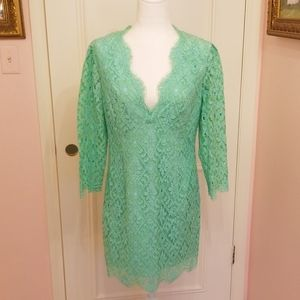 LILLY PULITZER mint lace dress